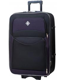 Валіза Bonro Style маленька чорно-т.фіолетова (10011911)