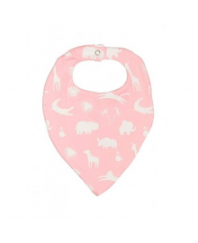 Слюнявчик розовый Animals MISHKA 1737 Размер  L