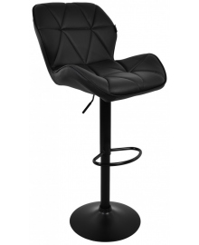 Барний стілець зі спинкою Bonro B-087 чорний (чорна основа) (40080062)