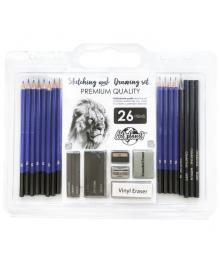 Набор графитных карандашей 26 предмета Art Planet