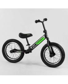 Беговел Corso Run 14 чёрно-зелёный (CR-6247)