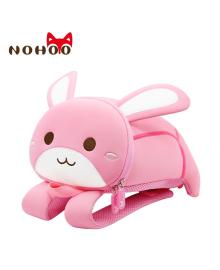 Детский рюкзак ортопедический Nohoo Зайка Розовый Большой для девочек (NH042L-2)