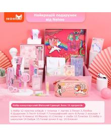Канцелярський набор в подарочной коробке Nohoo Школьный Единорог Амая для девочек 16 предм. (NHP026-3)