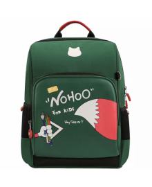 Школьный ранец ортопедический Nohoo Класс Лисенок Зеленый для мальчиков и девочек обегченный (NHB349-4)