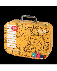 Мини-чемодан Nohoo Мульт-Вечеринка Желтый для мальчиков и девочек (NHP001-5)