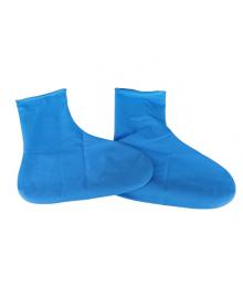 Резиновые бахилы Supretto на обувь от дождя, голубые S (5334)
