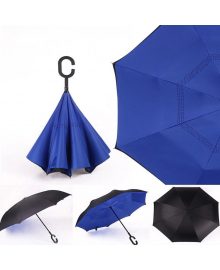 Умный зонт Supretto Наоборот, синий (4687)
