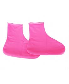 Резиновые бахилы Supretto на обувь от дождя, розовые S (5334)
