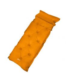 Самонадувающийся коврик Supretto для кемпинга, оранжево-серый (6024)