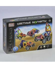 """Конструктор магнитный 2426 (48/2) """"Play Smart"""", 16 деталей, 5 моделей, в коробке"""