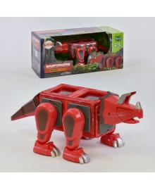 """Конструктор магнитный LQ 623 (16/2) """"Динозавр"""", 18 деталей, свет, звук, в коробке"""