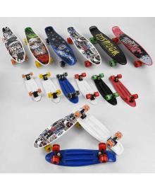 Скейт Пенни борд S 00164 Best Board (6) 6 видов, колёса PU, d=6см, светятся