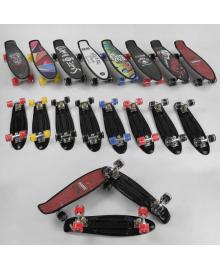 Скейт Пенни борд S-00635 (8) Best Board, 8 видов, колеса PU светящиеся, d=6см