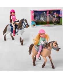Кукла с лошадкой 339 (12) 2 куклы, 2 лошади, в коробке