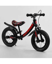 """Велобег 12'' CORSO """"SPIDER"""" 21714 (1) алюминиевая рама, передний ручной тормоз, подножка, защитные крылья, в коробке"""
