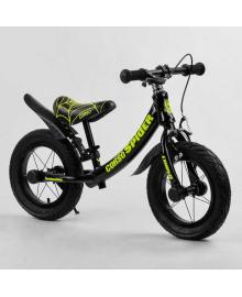 """Велобег 12'' CORSO """"SPIDER"""" 79662 (1) алюминиевая рама, передний ручной тормоз, подножка, защитные крылья, в коробке"""