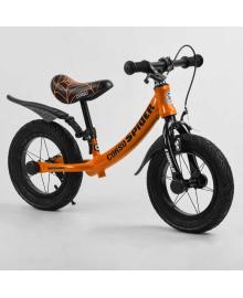 """Велобег 12'' CORSO """"SPIDER"""" 97517 (1) алюминиевая рама, передний ручной тормоз, подножка, защитные крылья, в коробке"""