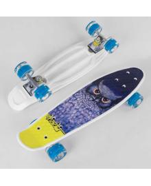 Скейт Пенни борд S 29855 (8) Best Board, 1 ВИД В ЯЩИКЕ, колеса PU светятся, d=4.5 см, доска=55 см