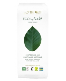 Органические урологические женские прокладки Eco by Naty Mini Plus, 16 шт.