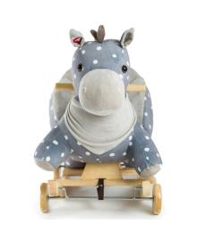 Лошадка-качалка с колесиками Kinderkraft Gray (KKZKONIGRY0000)