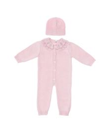 Комплект Elf-kids Baby Pink Ромпер Шапочка Комбинезон+шапочка, 2100047630647, 2100047630685