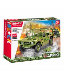 Конструктор IBLOCK Армія Hummer із зенітною установкою (PL-920-100)