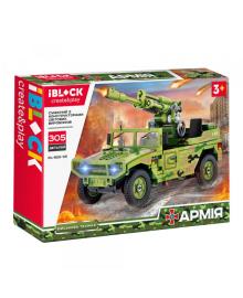 Конструктор IBLOCK Армія Hummer із гарматою (PL-920-101)