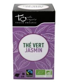 Чай зеленый с цветками жасмина Touch organic, неферментированый в пакетиках, органический, 24 шт.