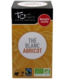 Чай белый с ароматом абрикоса Touch organic, неферментированый в пакетиках, органический, 24 шт.