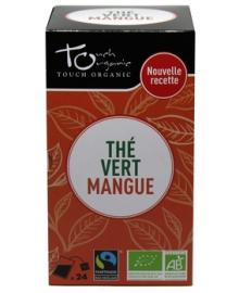Чай зеленый с ароматом манго Touch organic, неферментированый в пакетиках, органический, 24 шт.