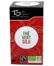 Чай зеленый с ягодами годжи Touch organic, неферментированый в пакетиках, органический, 24 шт.