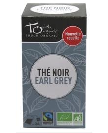 Чай черный Эрл Грей с ароматом бергамота Touch organic, ферментированный в пакетиках, органический, 24 шт.