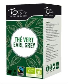 Чай зеленый Эрл Грей с ароматом бергамота Touch organic, неферментированый в пакетиках, органический, 24 шт.