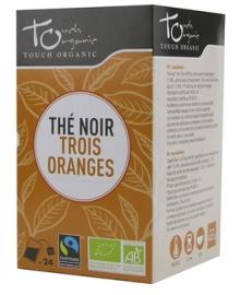 Чай черный с ароматом апельсина Touch organic, ферментированный в пакетиках, органический,24 шт.