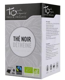 Чай черный без кофеина Touch organic, ферментированный в пакетиках, органический, 24 шт.