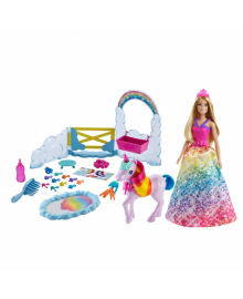 "Набор Barbie ""Уход за единогорогом"" из Дримтопии"