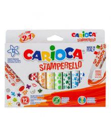 Набор фломастеров Carioca Stamp Markers 12 шт