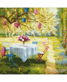 Картина по номерах Весняні ліхтарики Ira Volkova 50х50