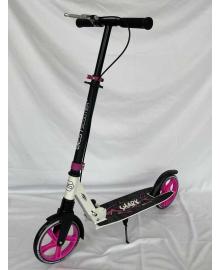 """Самокат двухколесный """"Best Scooter"""" 14790 (4) """"SHARK"""", с ручным тормозом, зажим руля, колеса PU - 20 см, 1 амортизатор, в коробке"""