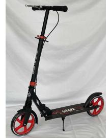"""Самокат двухколесный """"Best Scooter"""" 15250 (4) """"SHARK"""", с ручным тормозом, зажим руля, колеса PU - 20 см, 1 амортизатор, в коробке"""