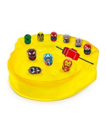 Игровой набор Marvel Wooblies Superhero Arena 4 шт