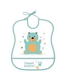 Нагрудник пластиковый мягкий Canpol babies Teddy Bear