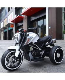 Ел-мобіль T-7236 EVA WHITE мотоцикл 2*6V4.5AH мотор 2*15W з MP3 102*51*59 /1/