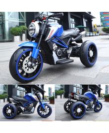 Ел-мобіль T-7236 EVA BLUE мотоцикл 2*6V4.5AH мотор 2*15W з MP3 102*51*59 /1/