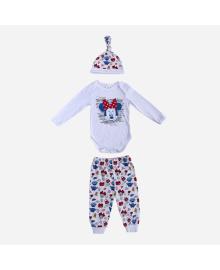 Комплект Disney Боди брюки и шапка Mickey Happy White MN18364, 8691109924445