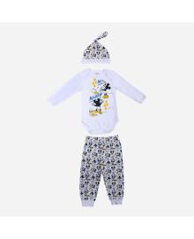 Комплект Disney Боди брюки и шапка Mickey Mouse White MC18314, 8691109923707