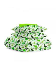 Комплект полуторного постельного белья DINO /зеленый горох/ Дино_зеленый_15