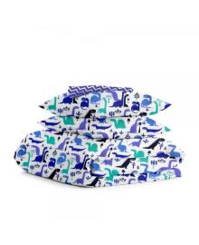 Комплект полуторного постельного белья DINO /синий зигзаг/ Дино_зигзаг_15
