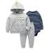 Комплект для мальчика 3 в 1 Berni Маленький модник Сірий (SH-1446-HA07606) Berni Kids