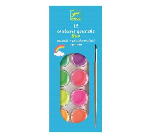Набор акварели DJECO неоновые цвета, 12 цв. DJ09759, 3070900097599